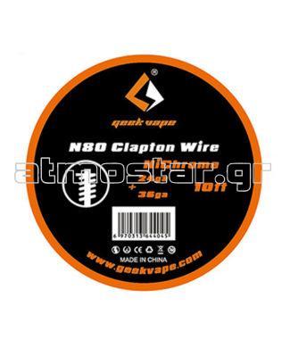 GeekVape N80 Fused Clapton Wire (24GA + 36GA) 3m