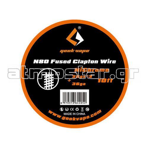 GeekVape N80 Fused Clapton Wire (26GAx3+36GA) 3m