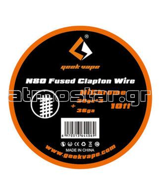 GeekVape N80 Fused Clapton Wire (28GAx3+36GA) 3m
