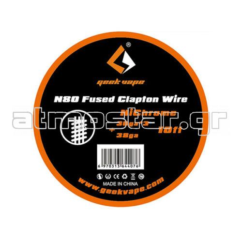 GeekVape N80 Fused Clapton Wire (30GAx3+38GA) 3m